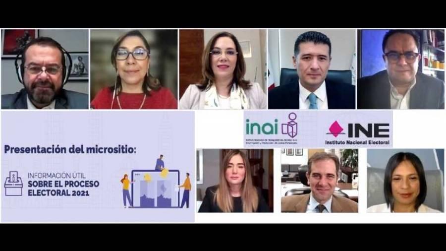 """INAI e INE ponen a disposición el micrositio """"Información útil sobre el proceso electoral 2021"""""""
