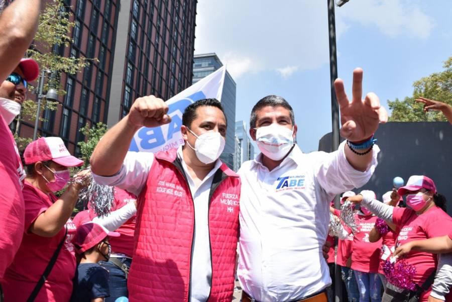 Candidato de Fuerza por México, declina por Mauricio Tabe en Miguel Hidalgo