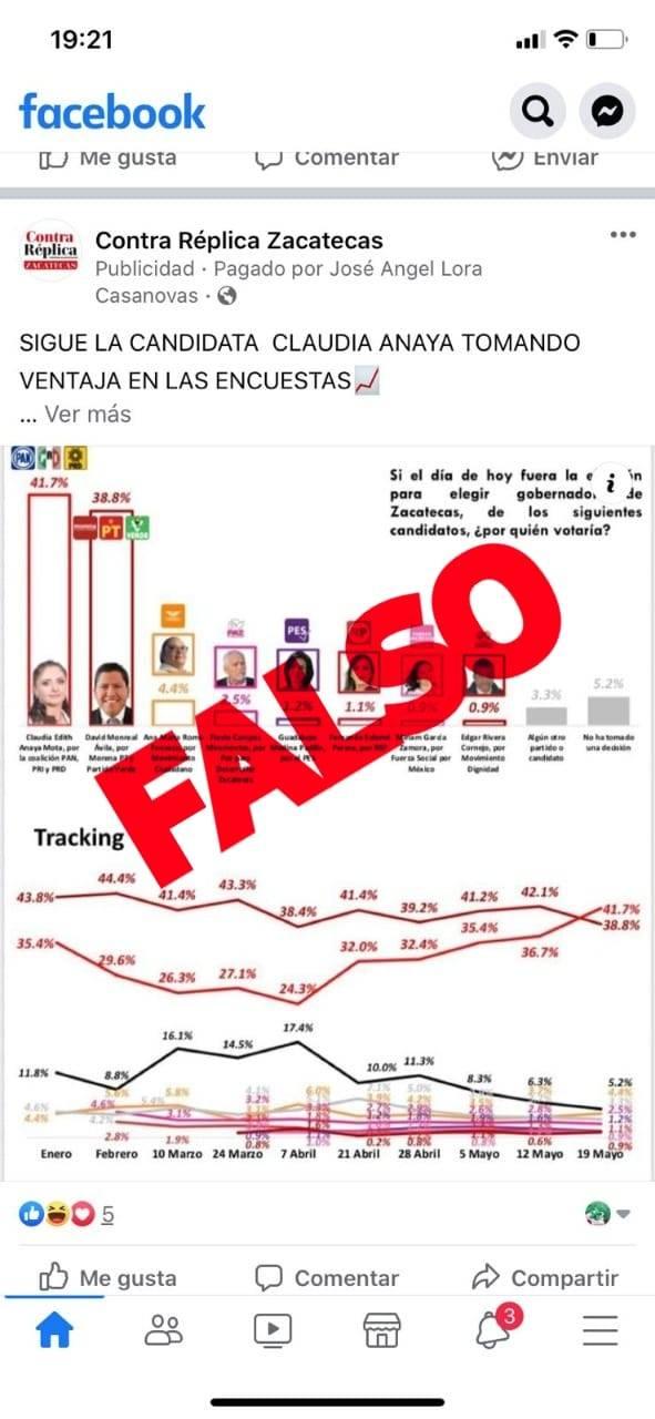 Clonan página de Facebook de ContraRéplica y difunden 'fake news'