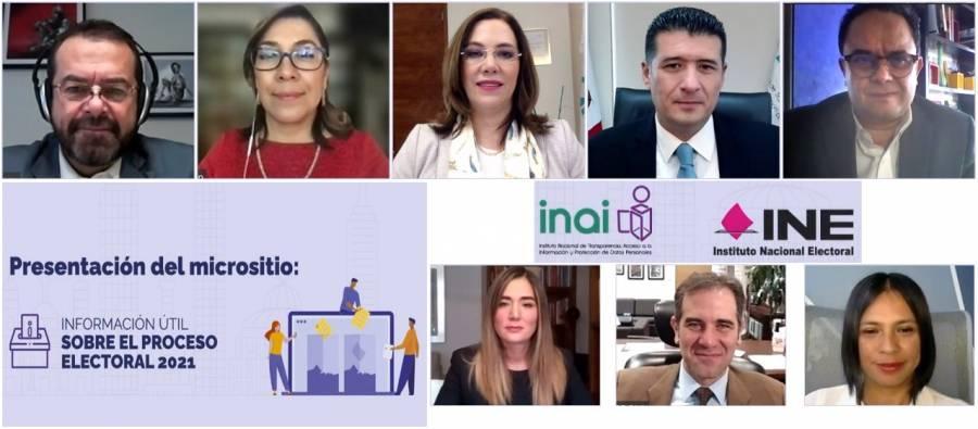 INAI e INE implementan micrositio de información electoral