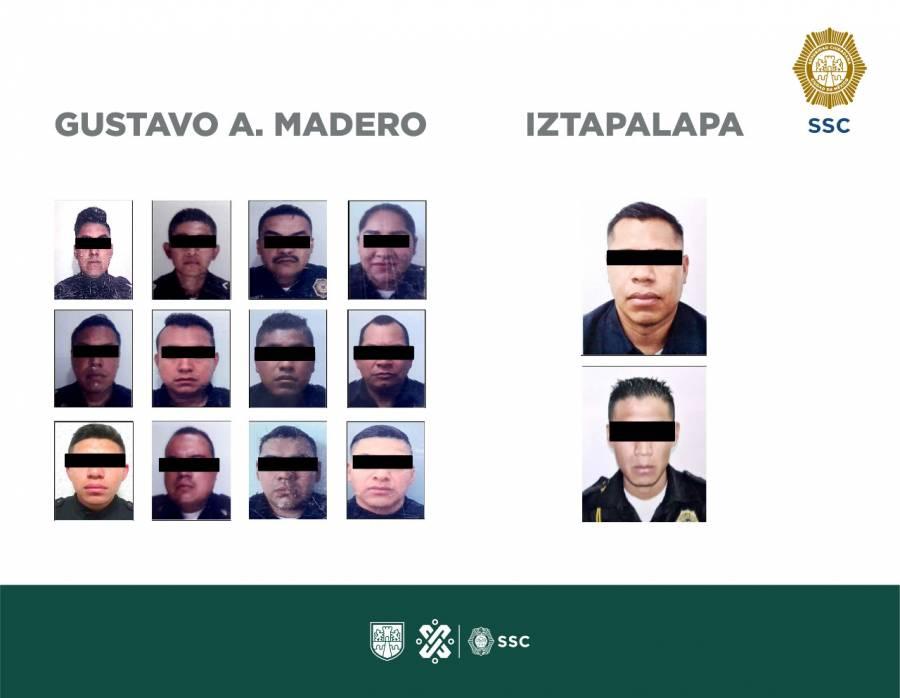 SSC aprehende a 14 policías por delitos de extorsión y robo