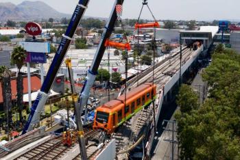 Continúan trabajos de levantamiento de evidencia, tras accidente en Línea 12 del Metro