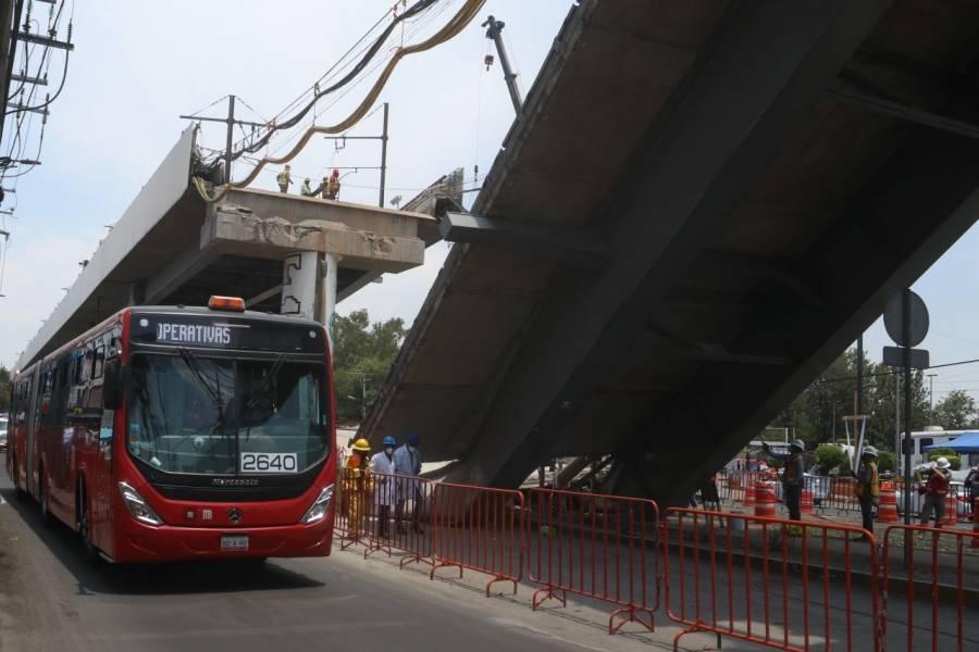 Continúan preparativos para segunda fase del servicio emergente, tras accidente en Línea 12 del Metro