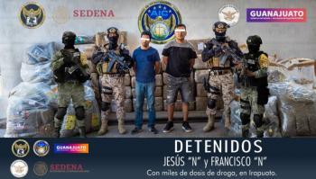 Aseguran droga en Irapuato; detienen a dos personas