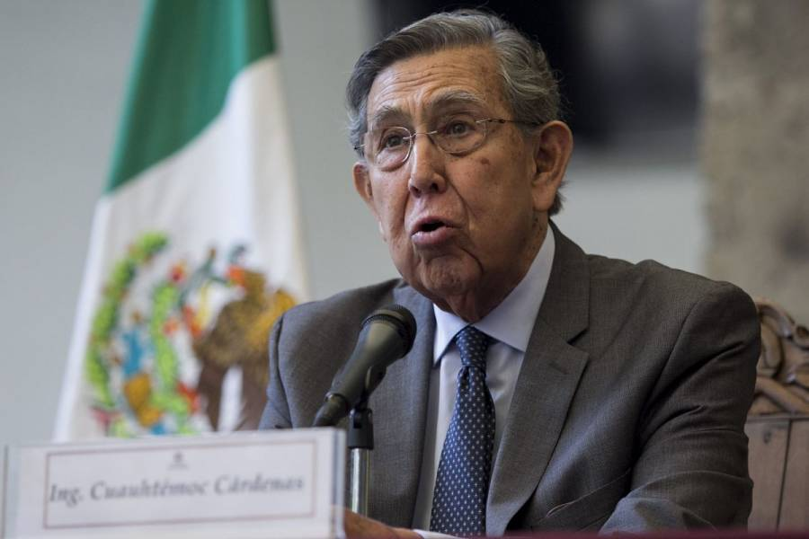 """""""Difícilmente diría que tenemos un gobierno de izquierda"""": Cuauhtémoc Cárdenas"""