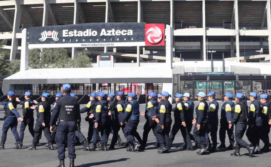 La SSC realizarán un operativo de seguridad en el Estadio Azteca
