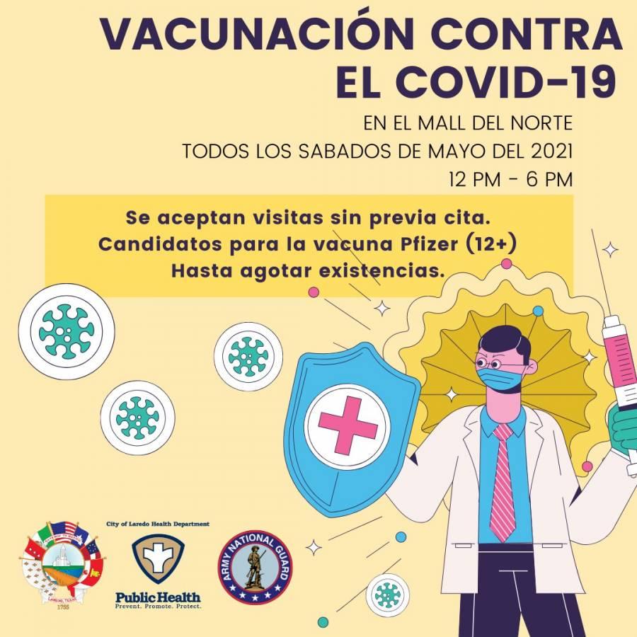 Laredo invita a mexicanos a ir a vacunarse contra la Covid-19