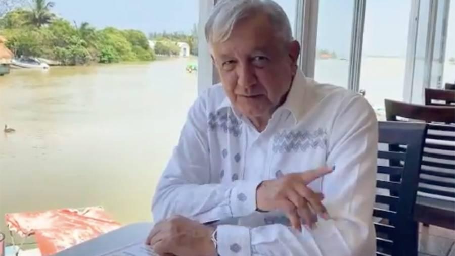 AMLO habla de obras de gobierno en Veracruz y la huasteca potosina