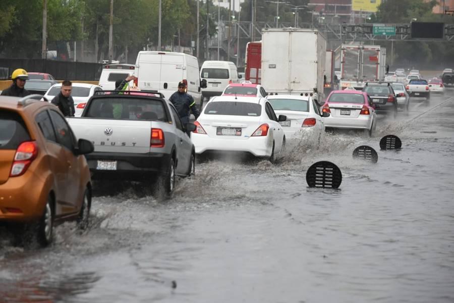 Intensas lluvias deja afectaciones en diversos puntos de la CDMX