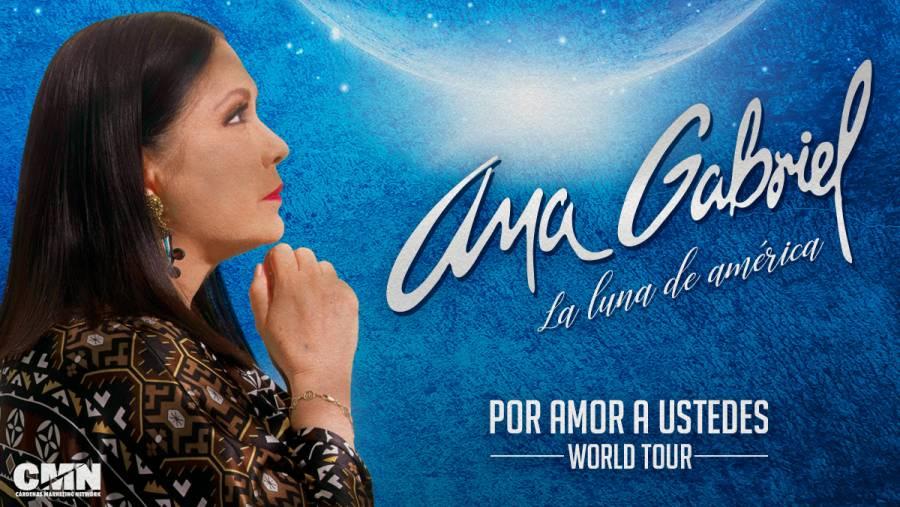 """Anuncia Ana Gabriel gira """"Por amor a ustedes"""" a iniciar en febrero de 2022"""