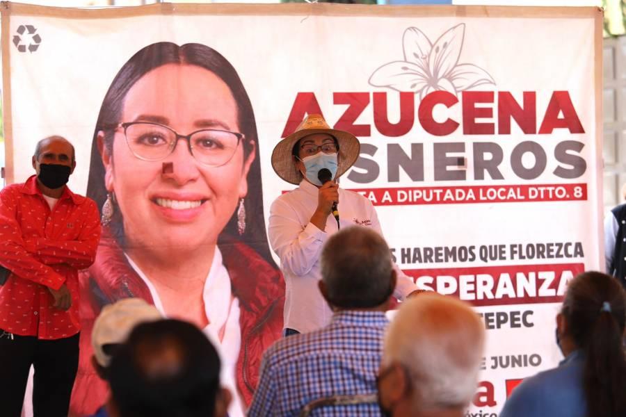 Propone Azucena Cisneros, penas severas contra funcionarios corruptos