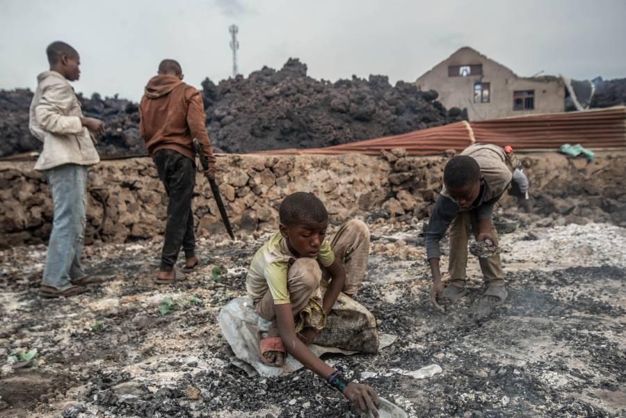 Tras erupción del Nyiragongo reportan desaparición de 170 niños