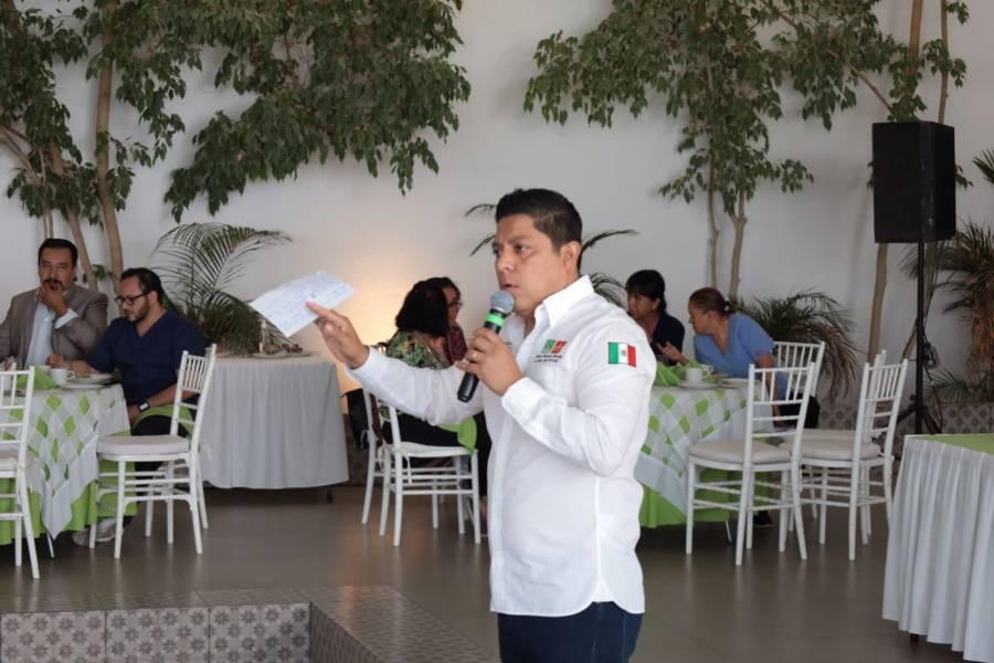 Vamos a dar certidumbre a los trabajadores de la salud: Ricardo Gallardo