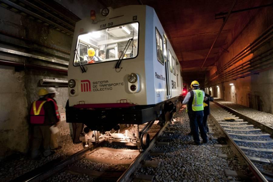 En línea 12 del Metro, realizan pruebas con trenes vacíos para posible reapertura de tramo subterráneo