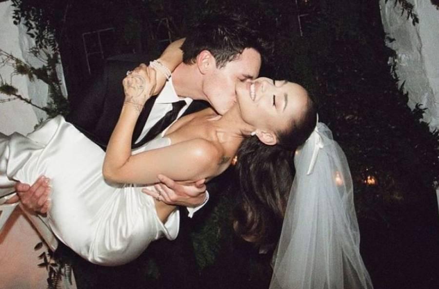 Ariana Grande publica las primeras fotos de su boda con Dalton Gomez
