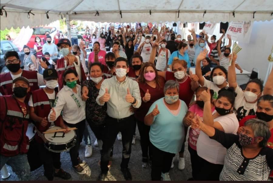 Con una semana de campaña, candidato de Juntos Haremos Historia va la alza en Monterrey