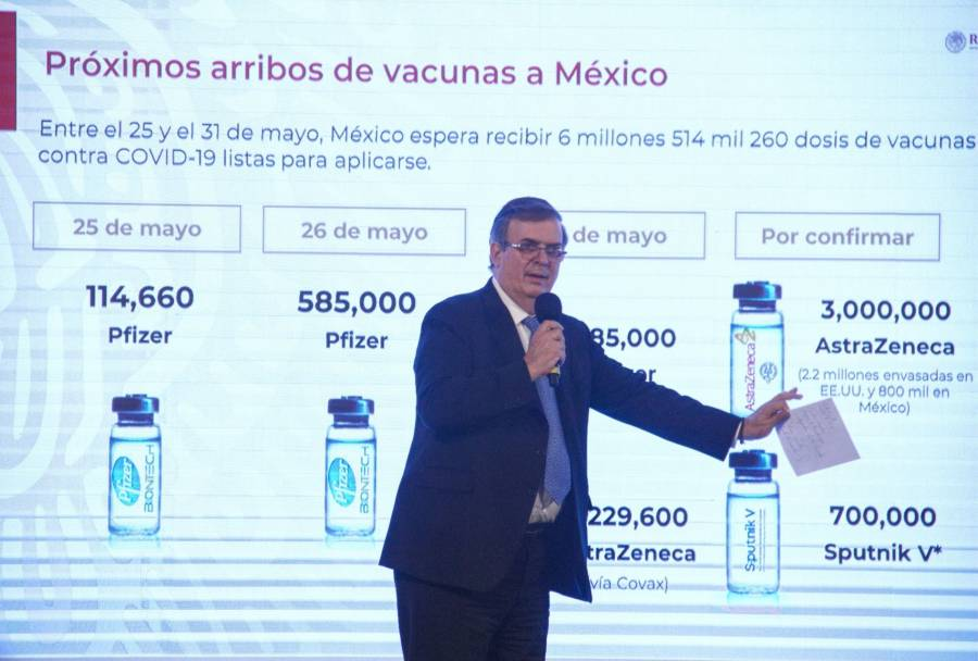 México distribuirá vacunas a Latinoamérica: Marcelo Ebrard