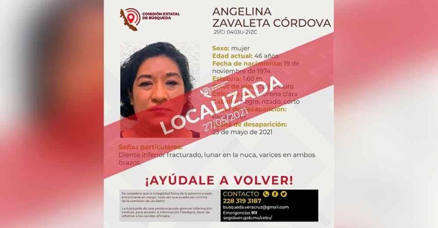 Encuentran con vida a Angelina Zavaleta Córdoba, regidora de Perote