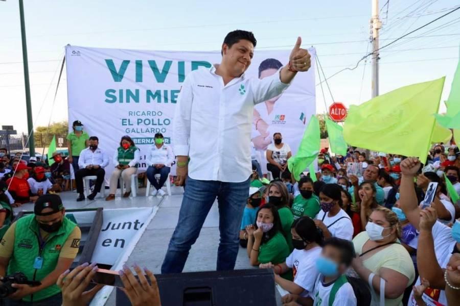 Ricardo Gallardo cerrará campaña este domingo en SLP
