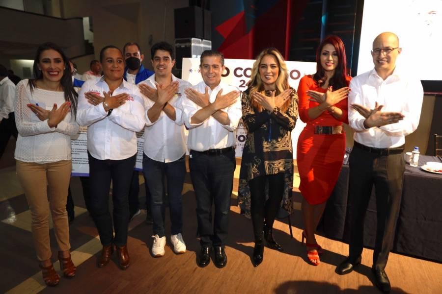 Representantes de Fuerza por México, nuevas adhesiones a campaña de Giovani Gutiérrez