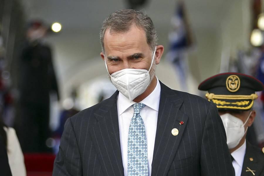 Felipe VI recibe vacuna contra COVID-19 en Madrid