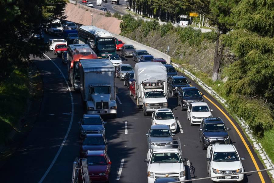 Próximo martes estará cerrada la carretera federal México-Toluca, rumbo a CDMX