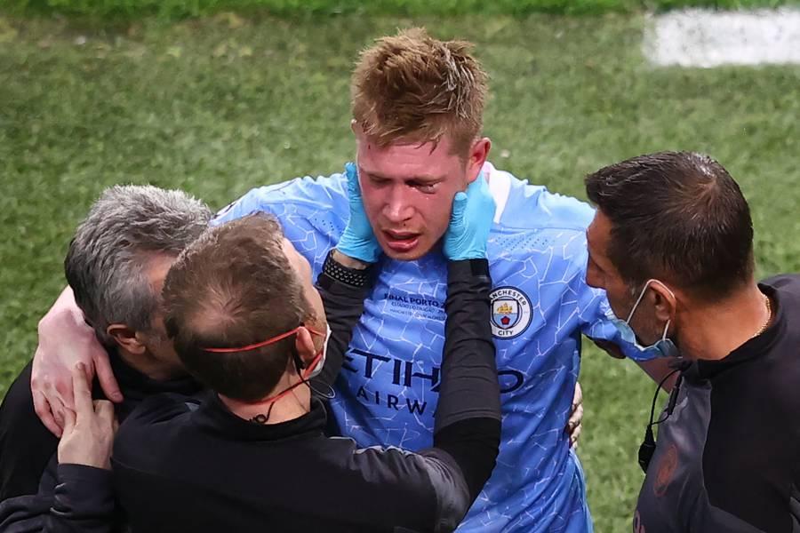 Tras choque con Rudiger, De Bruyne sufre fracturas en el rostro