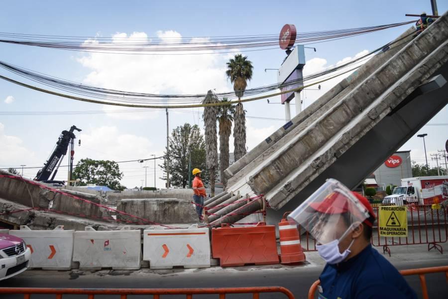 Concluye desmantelamiento de secciones colapsadas, tras accidente en Línea 12 del Metro