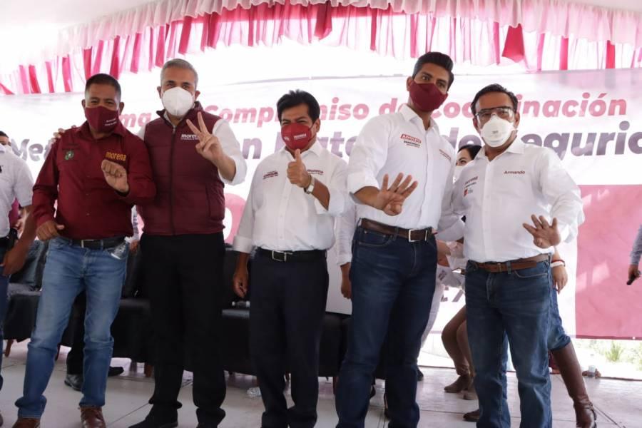 Aspirantes de Morena en el Valle de México, firman acuerdo en materia de seguridad