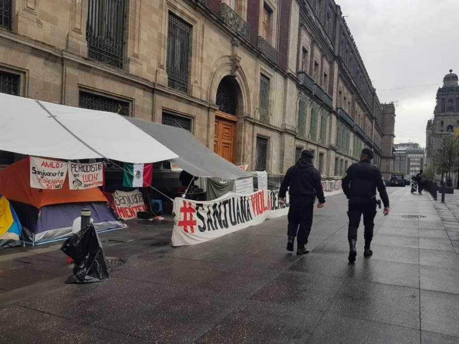 Denuncia SutNotimex amenazas de muerte en plantón de Palacio Nacional