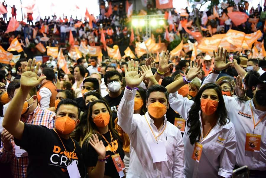 Abanderados de MC cierran campaña en Tlalpan