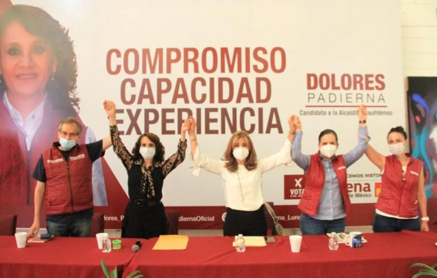 Declina candidata de ELIGE a favor de Dolores Padierna por la alcaldía Cuauhtémoc
