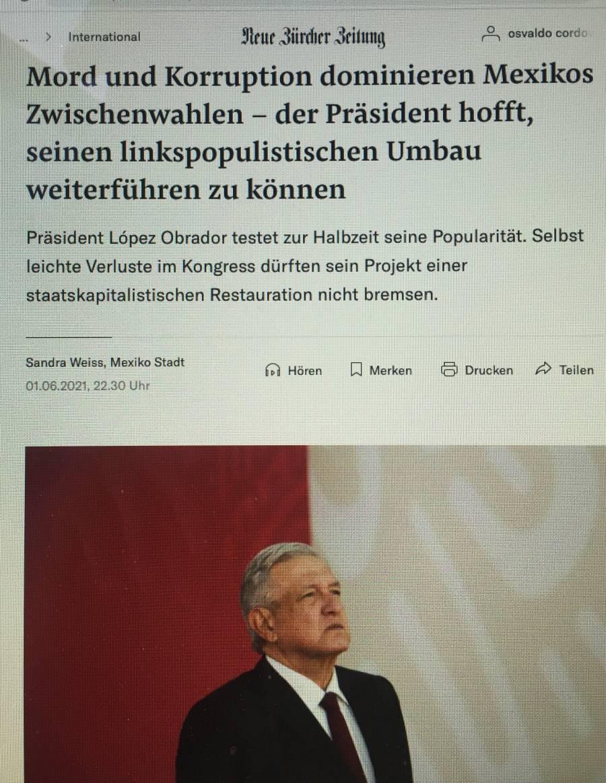 """AMLO gobierna con """"polarización y agitación constante"""": diario alemán"""