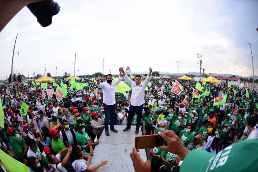 """Gallardo puede alcanzar cifra histórica en SLP de casi 500 mil votos: """"De las Heras"""""""