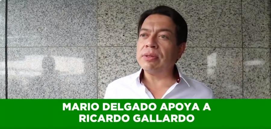 Respalda Mario Delgado a Ricardo Gallardo, representa a la 4T en SLP