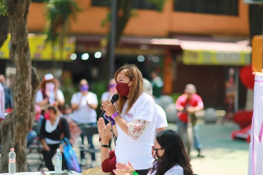 Pide candidata a diputada por Azcapotzalco votar por Morena