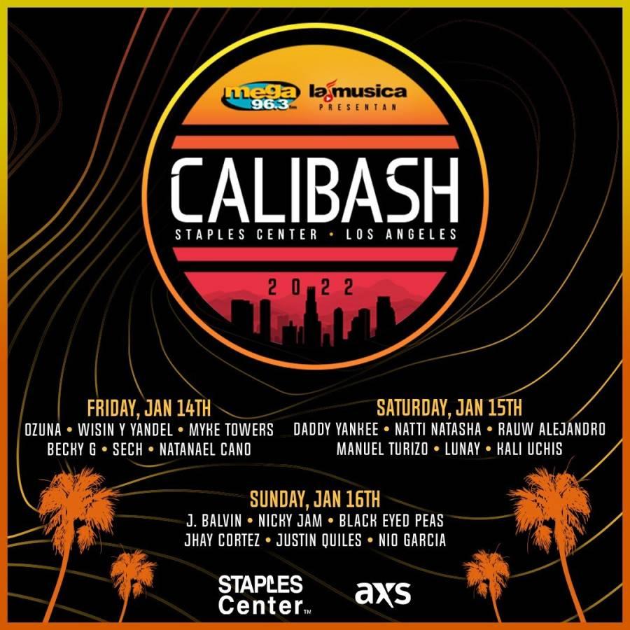 Regresa Calibash, con tres conciertos en vivo con 19 gigantes de la música urbana