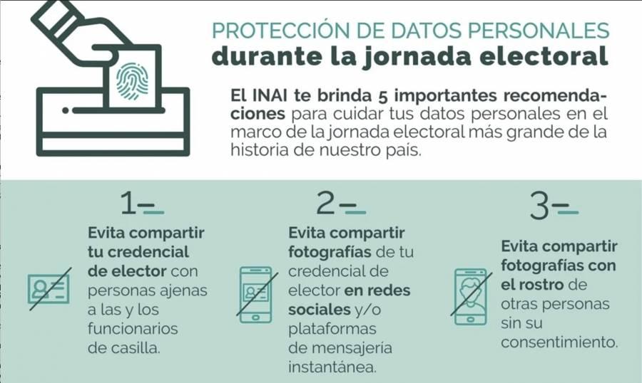 Emite INAI recomendaciones para la jornada electoral