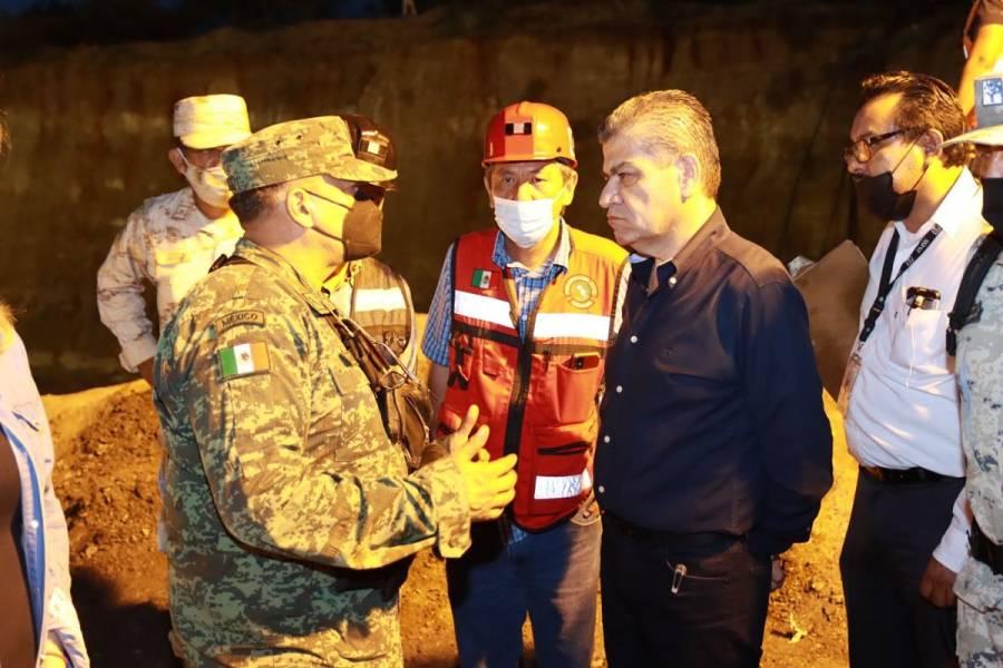 Suman tres cuerpos recuperados tras derrumbe de mina en Múzquiz, Coahuila