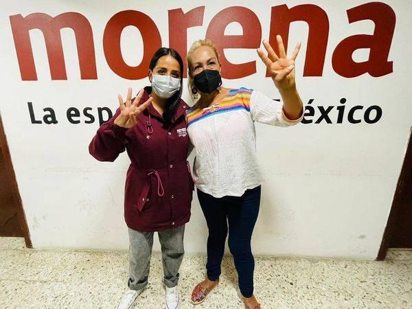 Patricia Ortíz, candidata morenista en La Magdalena Contreras acude a votar