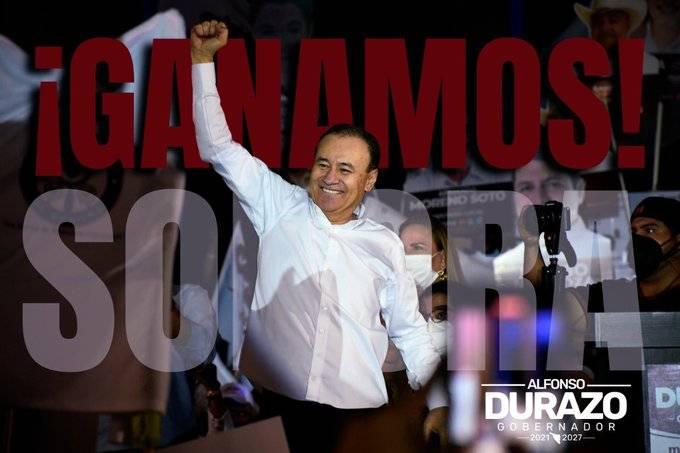 Durazo se declara ganador en Sonora