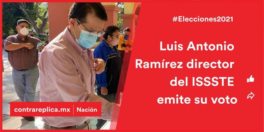 Director nacional del ISSSTE emite su voto en Oaxaca