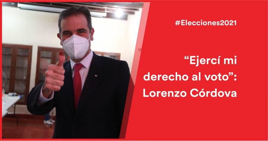 El consejero presidente del INE, Lorenzo Córdova acude a votar en Coyoacán
