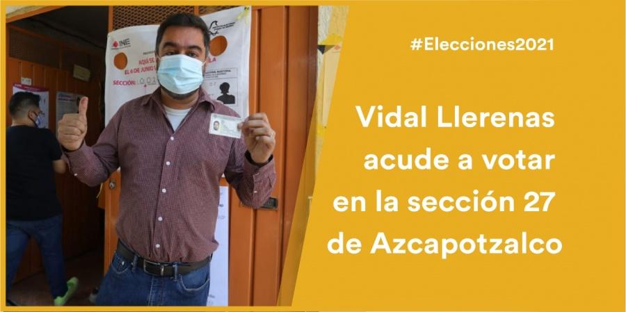 """""""Es seguro salir a votar"""", Vidal Llerenas, candidato de Morena a la alcaldía de Azcapotzalco"""
