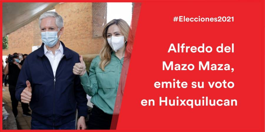 Alfredo del Mazo vota en Huixquilucan