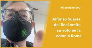 Alfonso Suarez del Real emite su voto en la colonia Roma