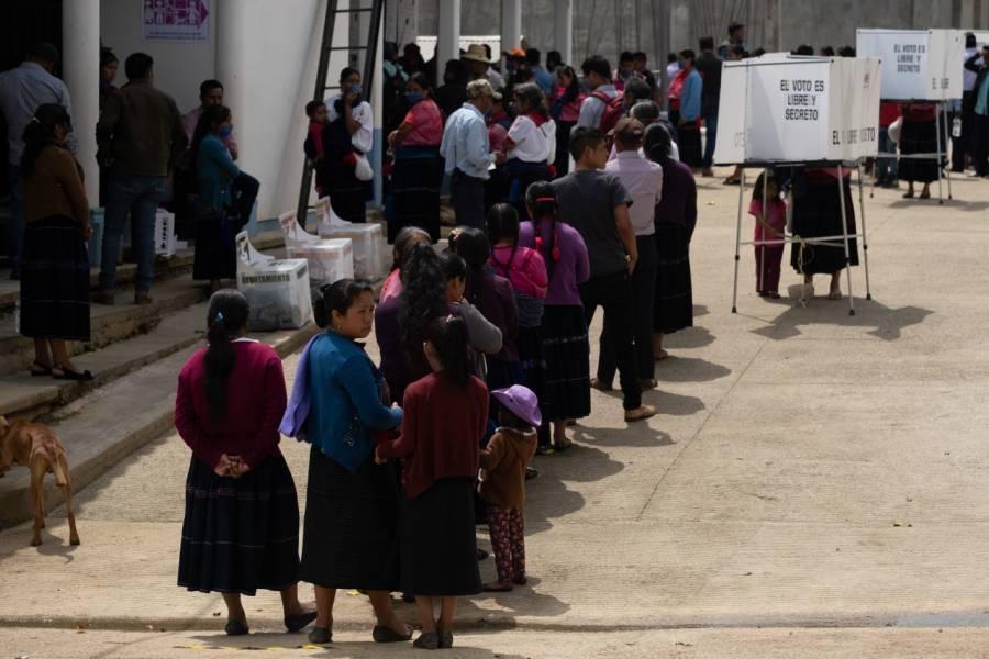 Resultados electorales en gubernaturas de acuerdo con el PREP con corte a la 1:30 hrs.