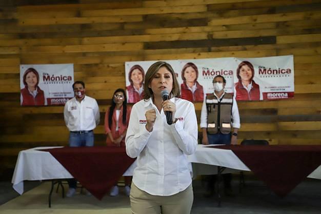 Mónica Rangel candidata de Morena reconoce triunfo de Ricardo Gallardo Cardona
