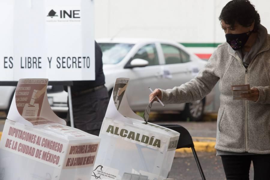 Resultados electorales en alcaldías de acuerdo al PREP con corte a la media noche