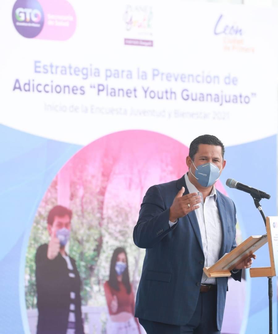 Gobernador de Guanajuato exhorta al compromiso social: no al consumo de drogas en menores